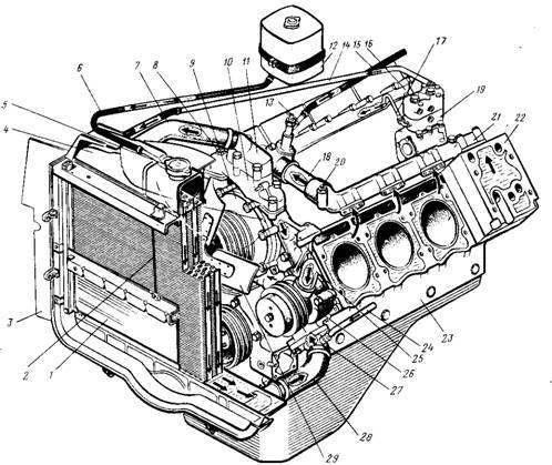 система охлаждения двигатель камаз