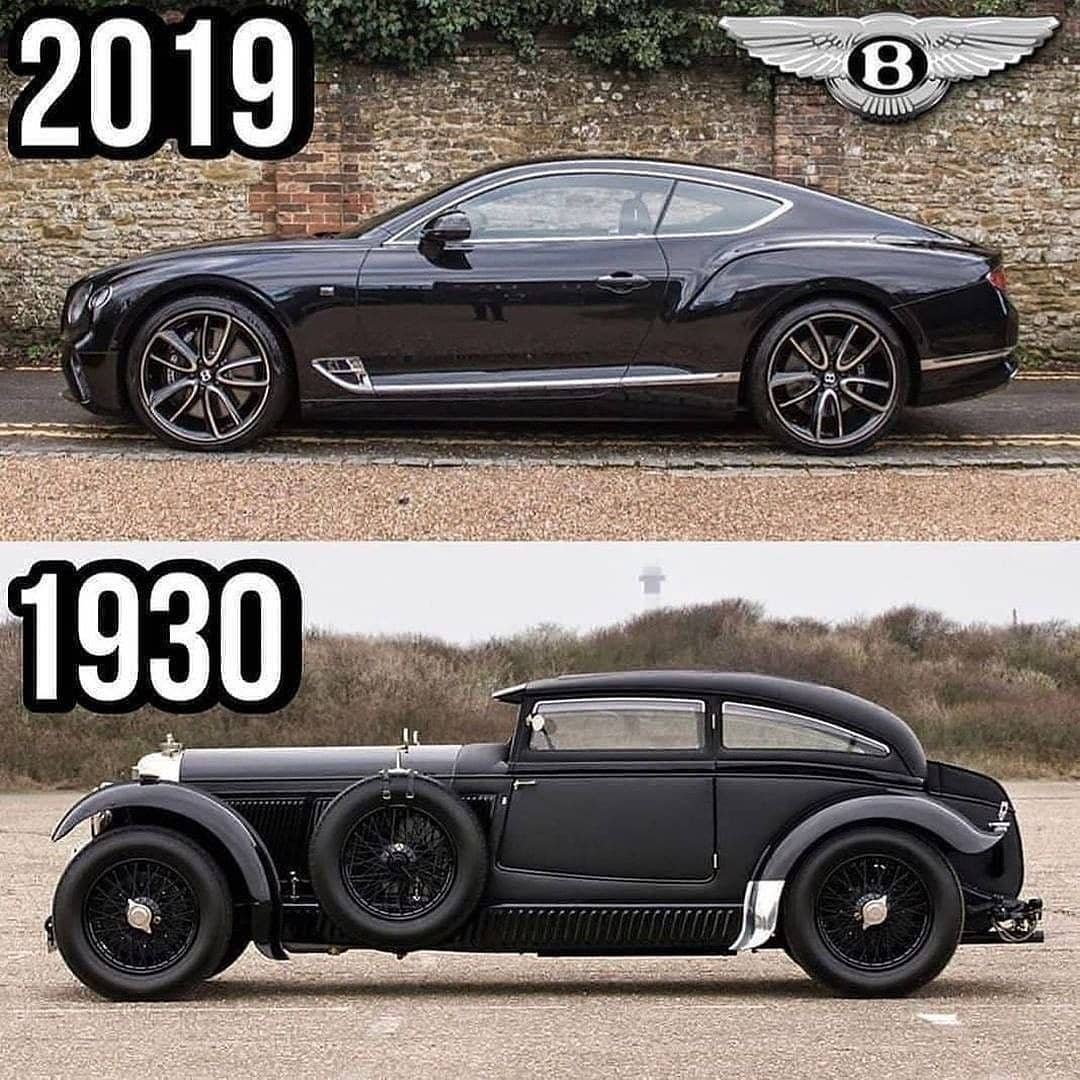 2019 vs 1930 Bentley