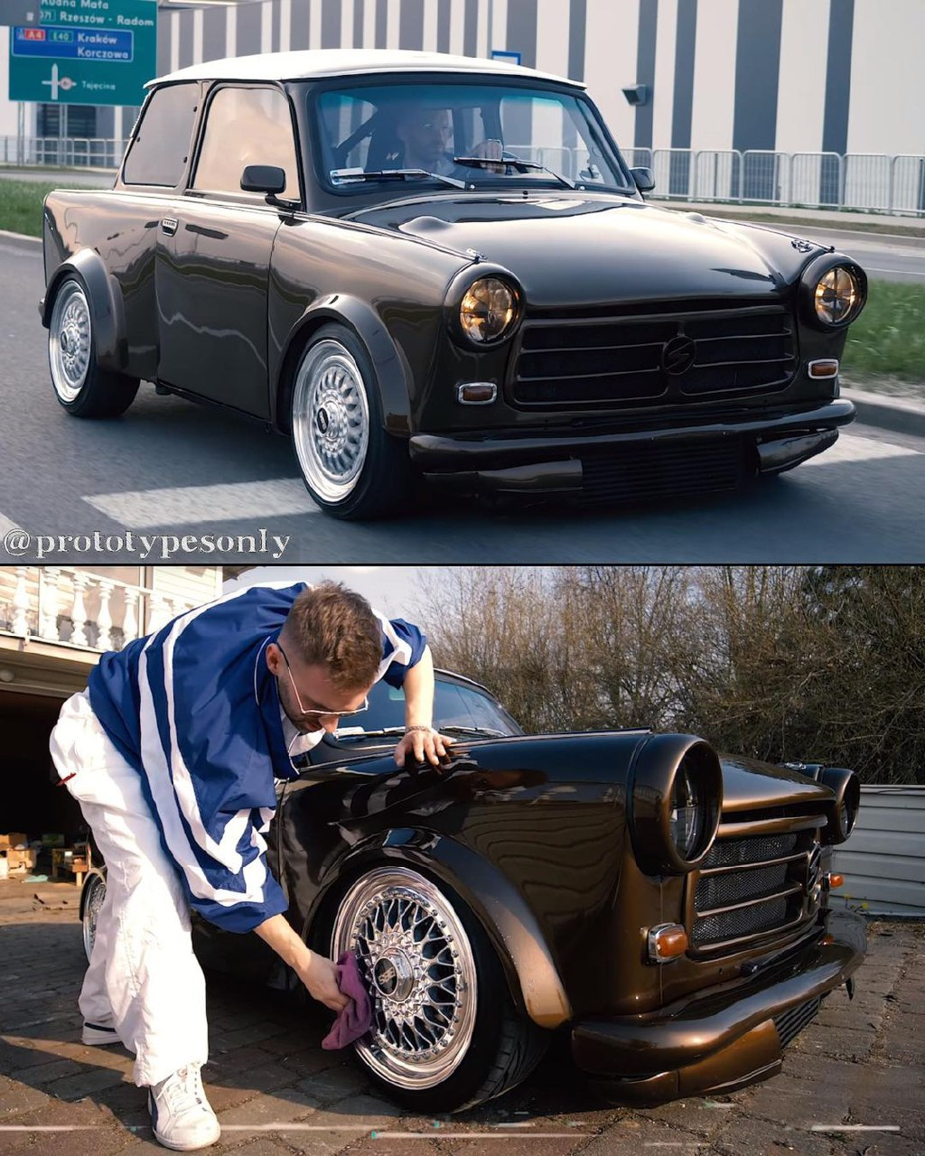 AWD Trabant 601S!😎 Turbo Engine and Chassis from Audi TT