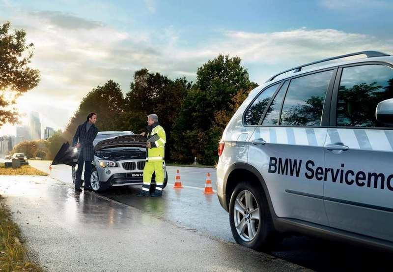 Помощь на дорогах для BMW