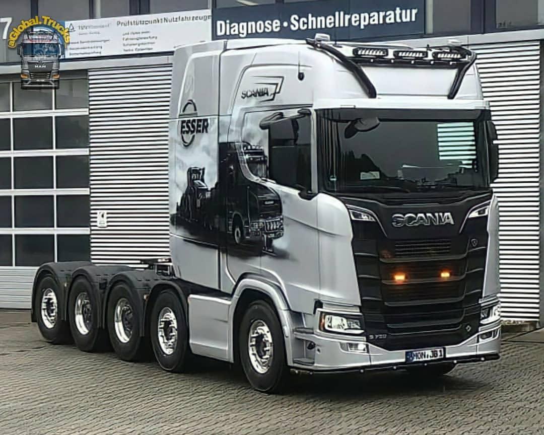 Scania S730 HighLine Cab-(10×4)