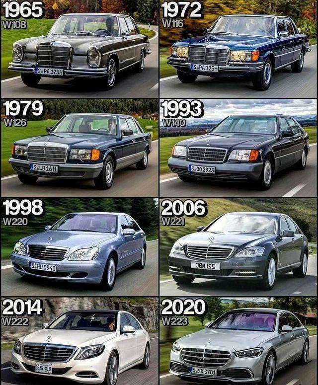 Эволюция S klass