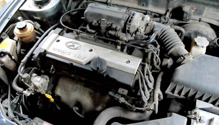 hyundai accent двигатель схема